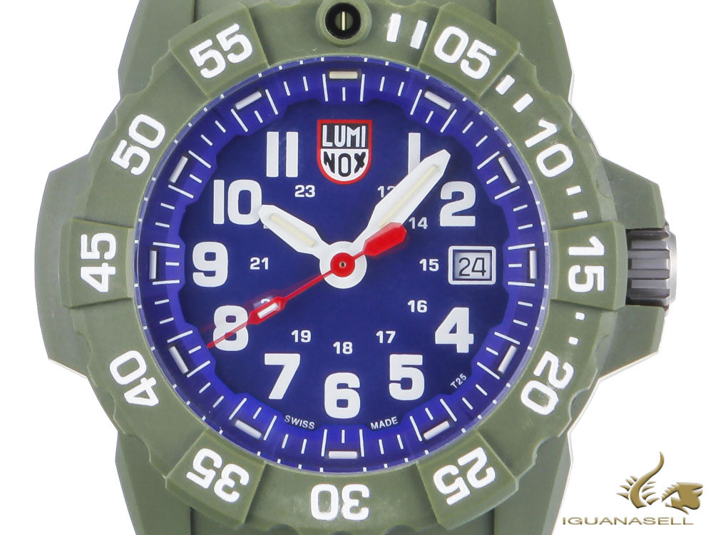 Reloj de Cuarzo Luminox Sea Navy Seal, Azul/Verde, 45mm, 20 atm, XS.3503.ND