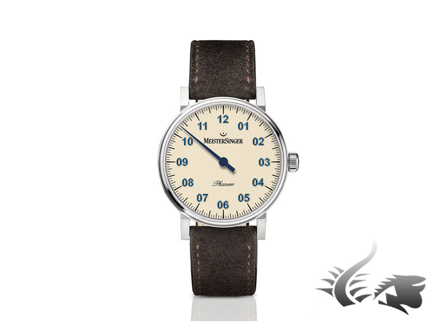 Reloj Meistersinger Phanero, Carga manual, SW 210, Marfil, 35mm, PH303-SV12