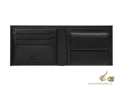 Cartera Montblanc Nightflight, Negro, Piel, 9 Tarjetas, Monedero, 118277