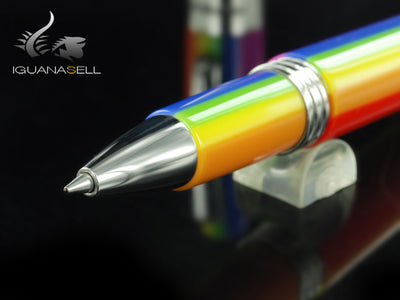Roller Montegrappa Fortuna Rainbow, Resina multicolor, Acero, ISFORRIR