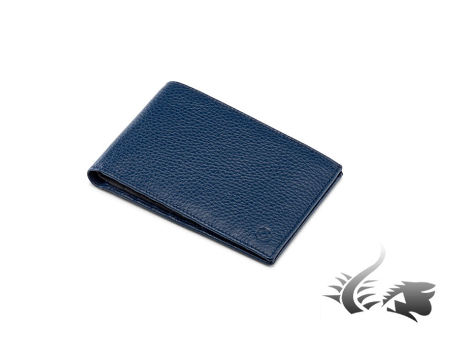 Cartera Montegrappa Leather collection, Piel, Azul, A.1048/8.BJ