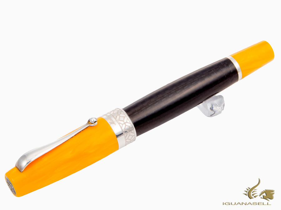 Roller Montegrappa Miya Carbon, Negro/Amarillo, ISMYTRFY