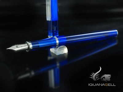 Estilográfica Sailor 1911 Young Silver Series, Azul, Demonstrator