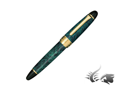 Estilográfica Sailor King of Pens Brier Wood, Verde, Madera, Oro 24K