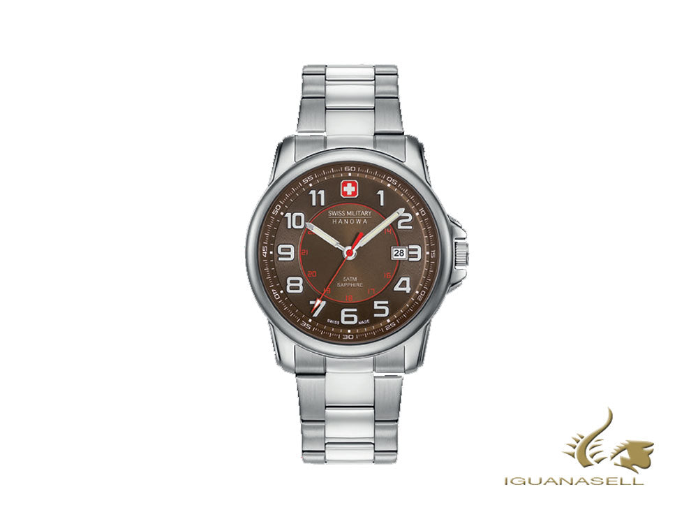 Reloj Cuarzo Swiss Military Hanowa Swiss Grenadier, Marrón, 43mm, 6-5330.04.005