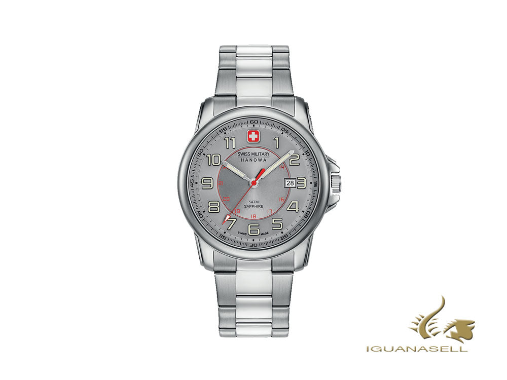 Reloj de Cuarzo Swiss Military Hanowa Swiss Grenadier, Gris, 43mm, 6-5330.04.009