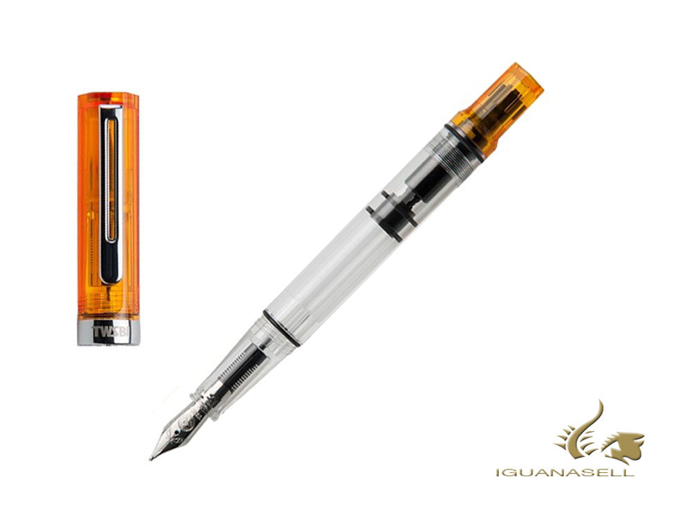 Pluma Estilográfica Twsbi Eco Transparent Orange, Resina, M7447380