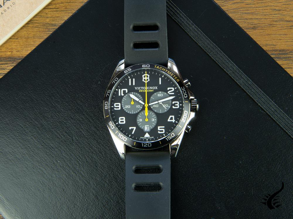 Reloj de Cuarzo Victorinox Fieldforce Sport Chrono, Negro, 42 mm, V241892