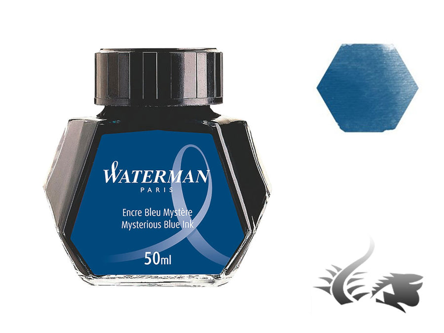 Tintero Waterman, 50ml, Azul Negro, S0110790