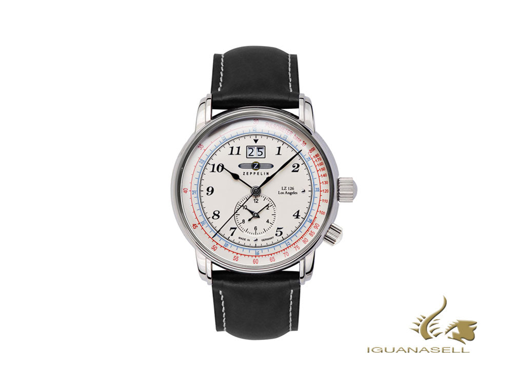Reloj de Cuarzo Zeppelin LZ126 Los Angeles, Blanco, 42 mm, GMT, 8644-1