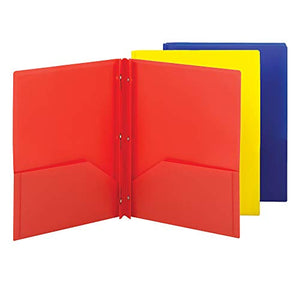 3 Folders with Prongs
