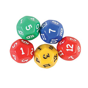 12 Sided Dice - Set of 5