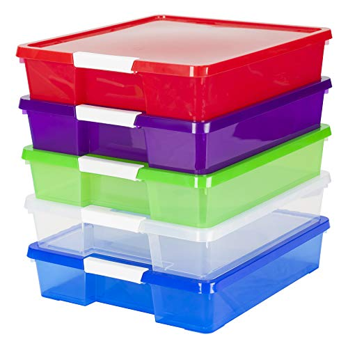 5 Storage Boxes 12x12 in.