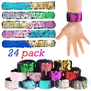 24 Mermaid Slap Bracelets
