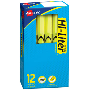 12 Yellow Highlighters