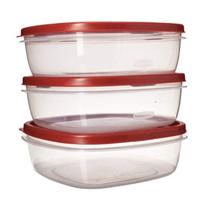 3 Rubbermaid Containers