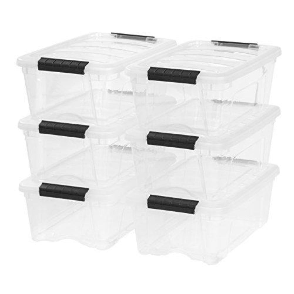 6 Storage Boxes 12 qt.