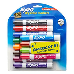 12 Dry Erase Markers