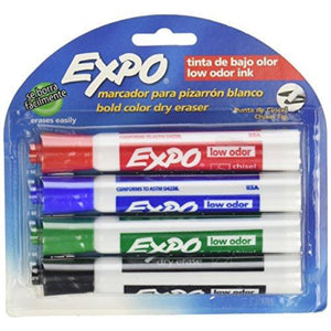 4 Dry Erase Markers