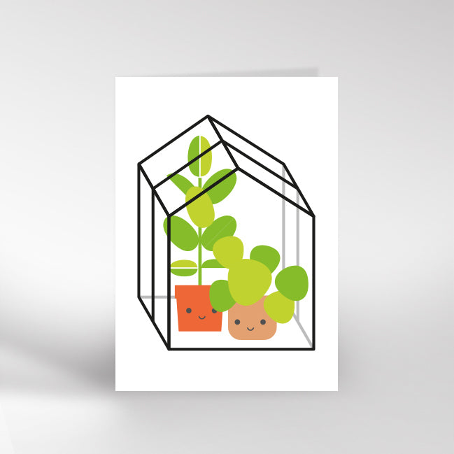 Dicky Bird Greenhouse Card