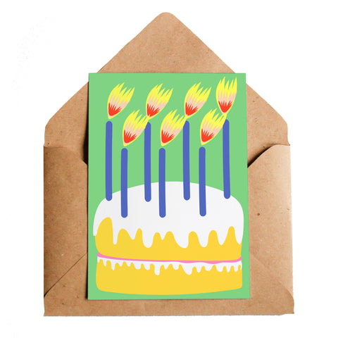 Lottie Hall Birthday Cake Card