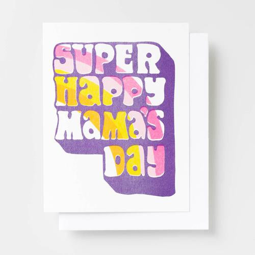 Yellow Owl Super Happy Mama's Day Card