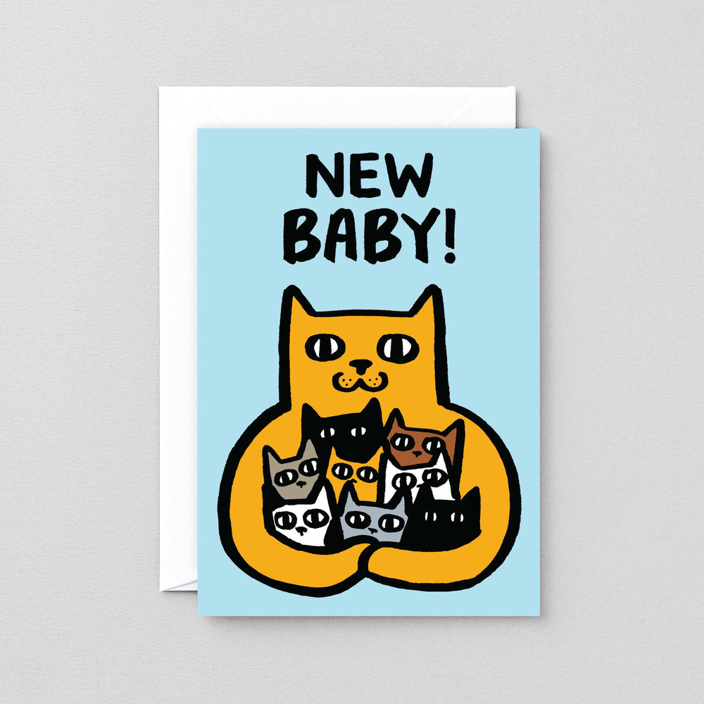 Wrap New Baby Cat Card