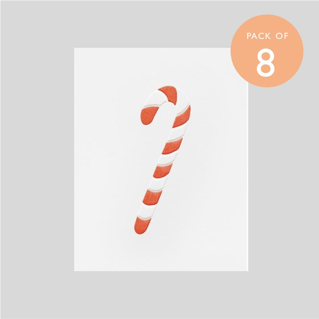 Ashkahn Pack of Eight Christmas Cards - Candy Cane
