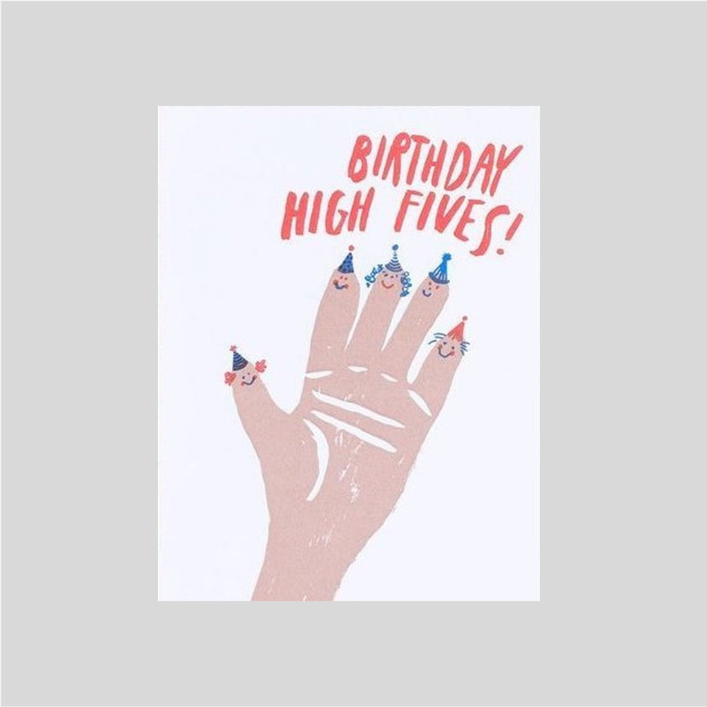 Egg Press Birthday High Fives Card
