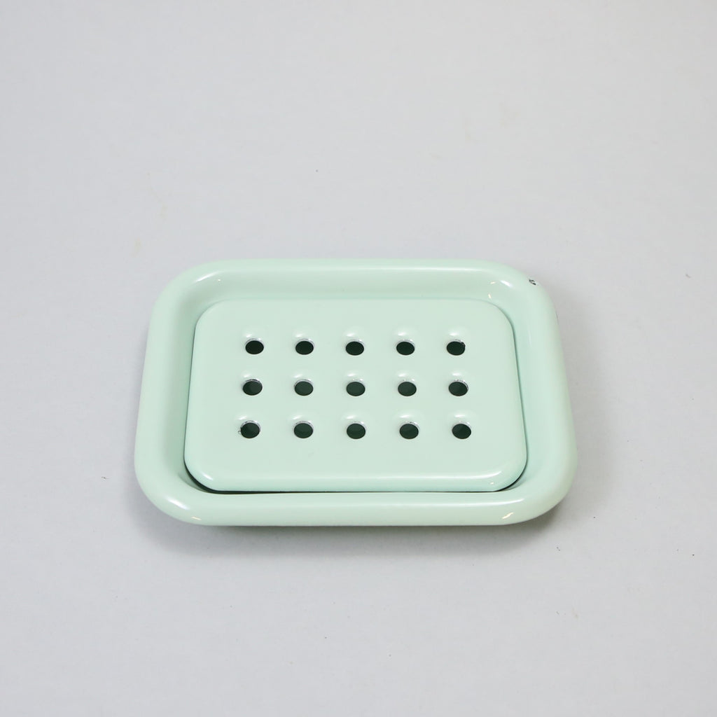 Mint Enamel soap dish
