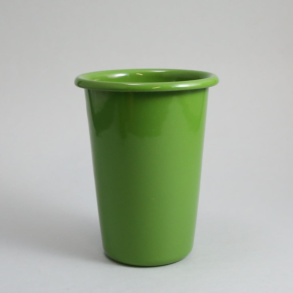 Large Apple Green Enamel Beaker