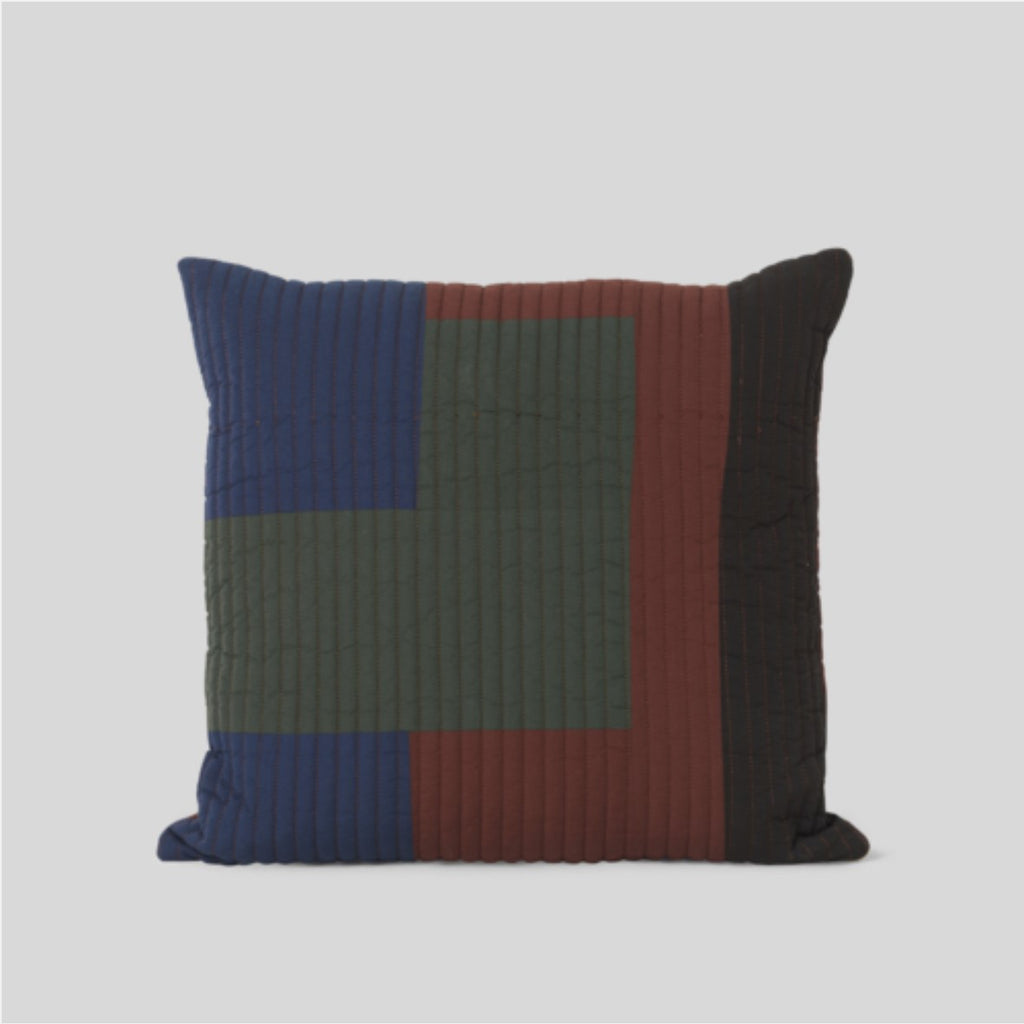 Ferm Living Shay Quilt Cushion Cinnamon