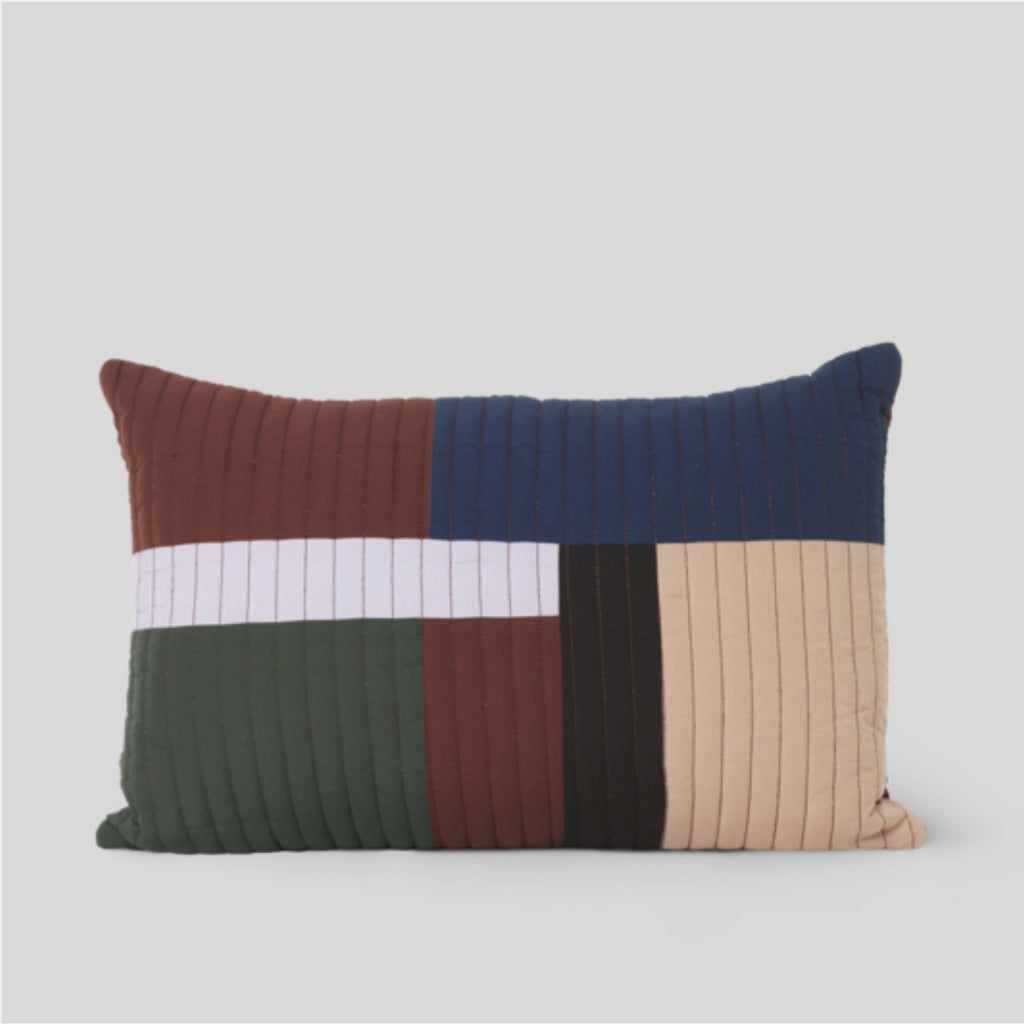 Ferm Living Shay Quilt Cushion Cinnamon Oblong