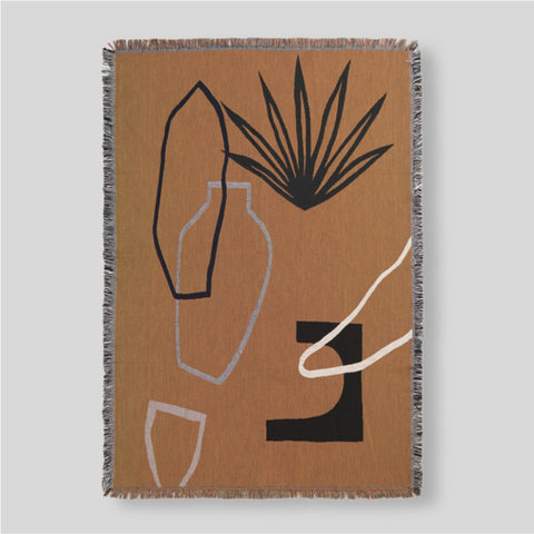 Ferm Living Mirage Blanket Mustard