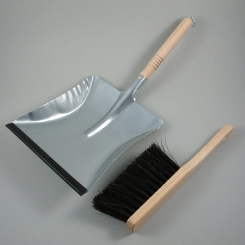 Galvanised Dustpan & Brush