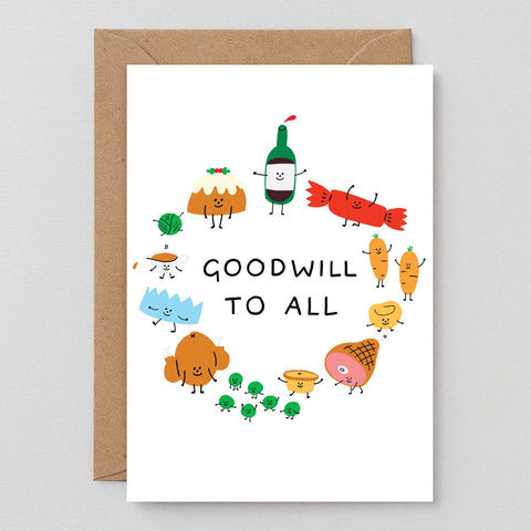 Wrap Goodwill To All Christmas Card