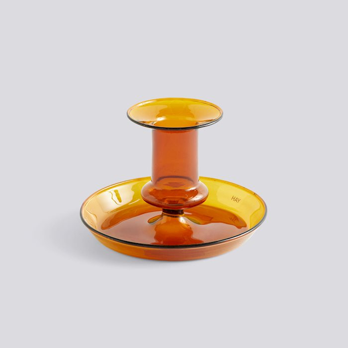 HAY Flare Candlestick Amber