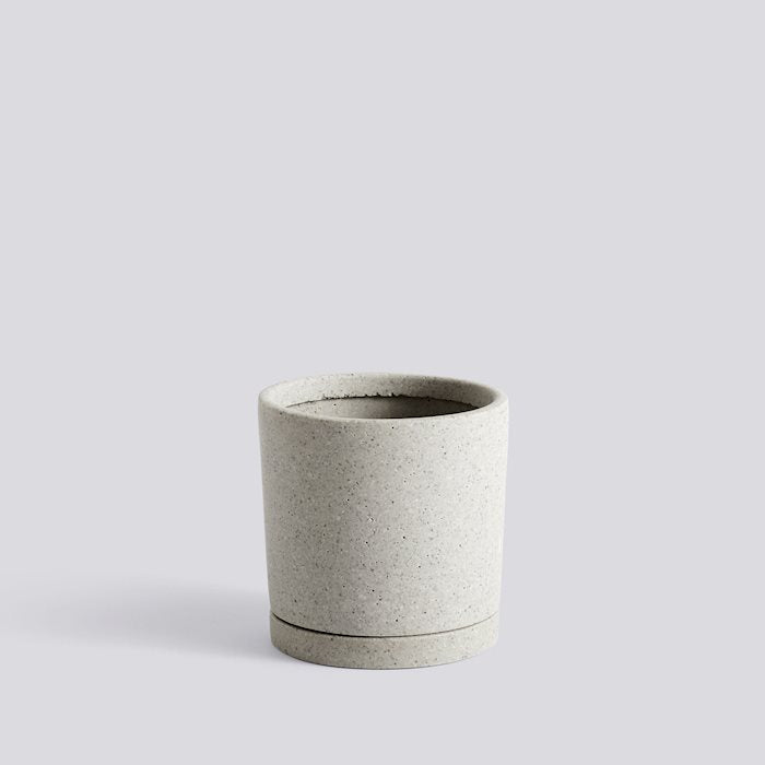 HAY Plant Pot with saucer - Grey Medium