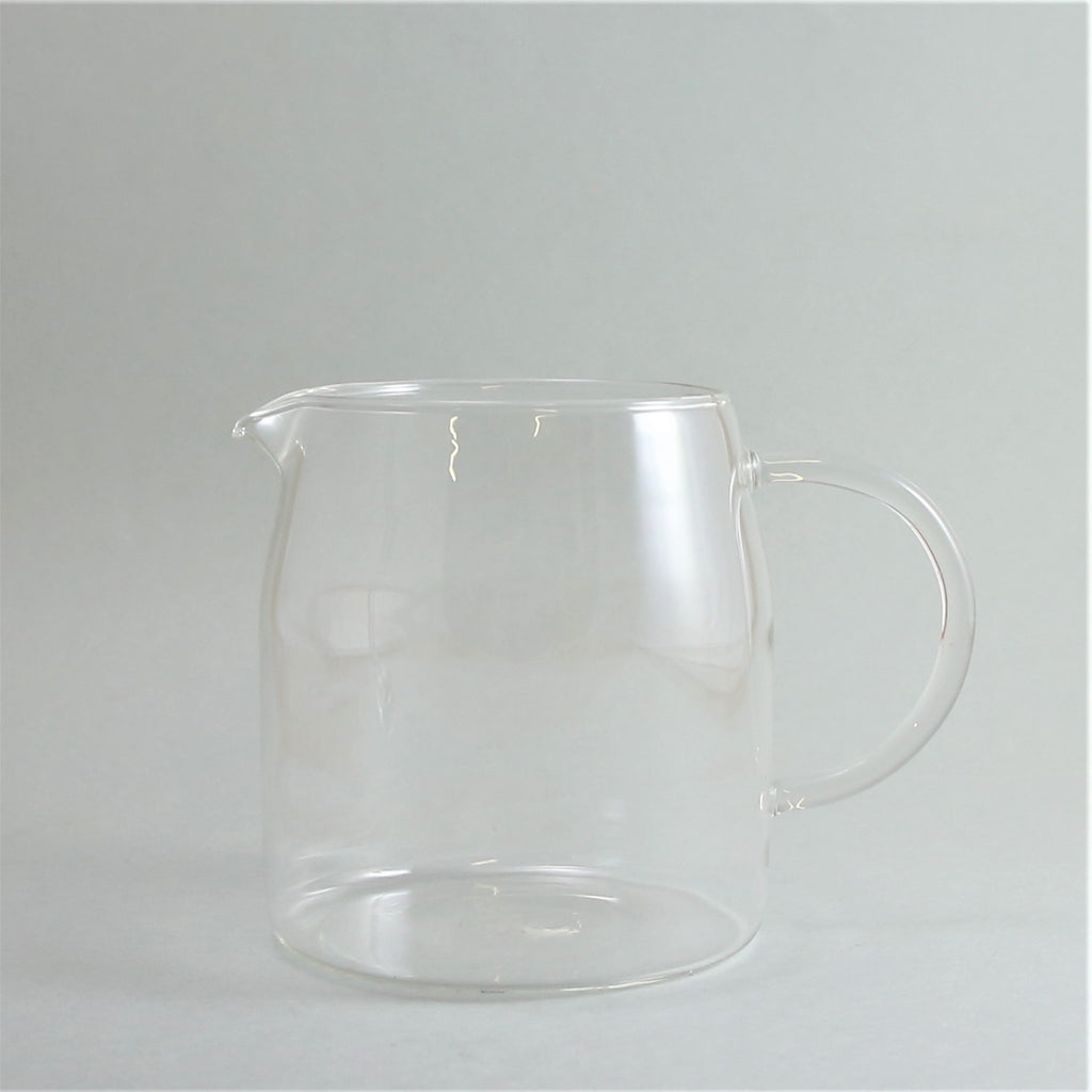 Short Glass Jug with Handle