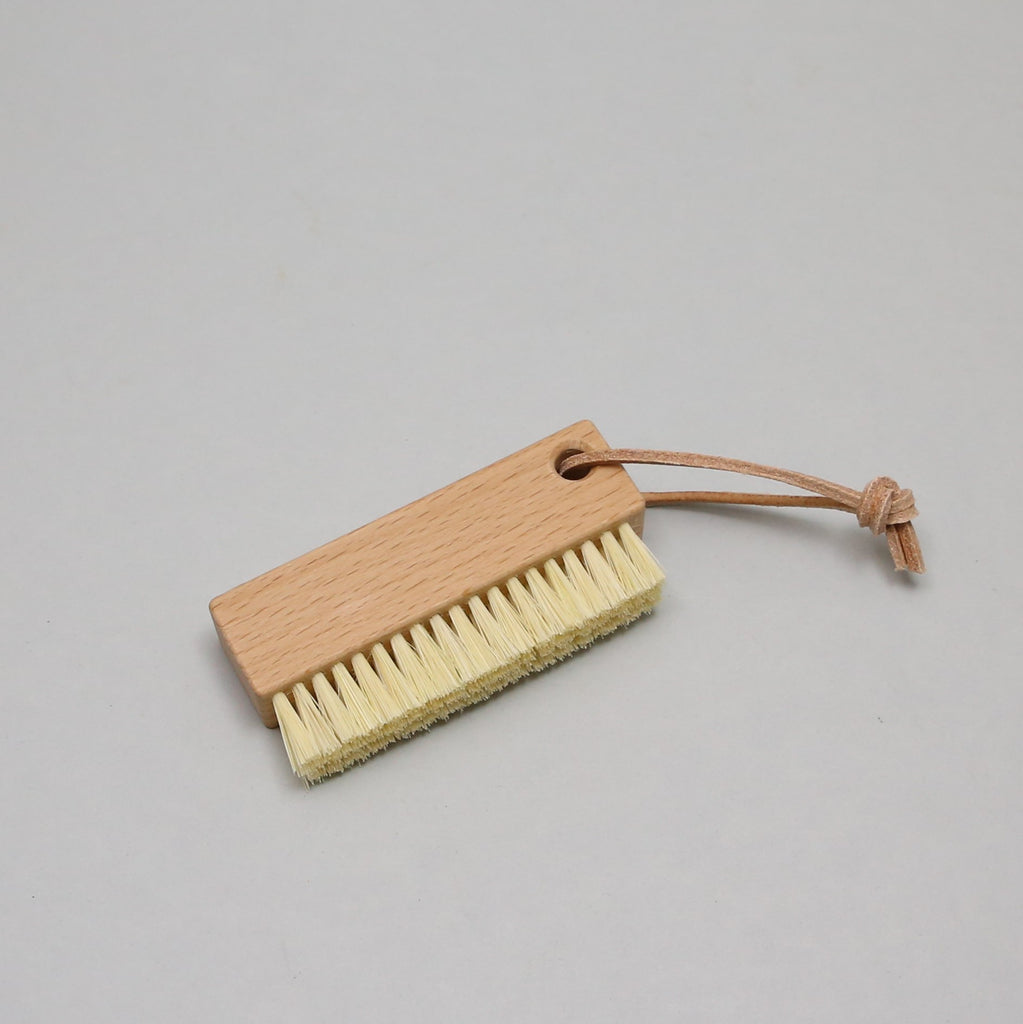 Nail Brush on Leather Cord