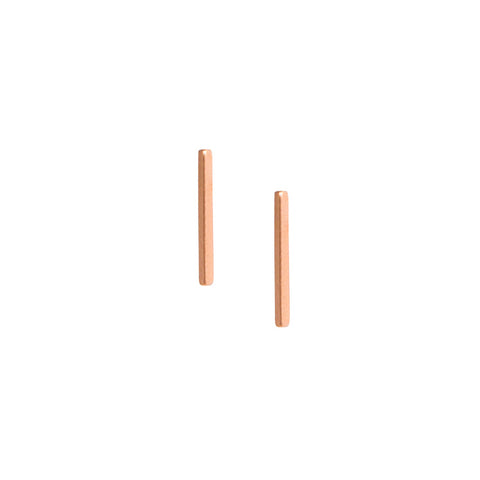 Matthew Calvin Line Earrings Rose Gold
