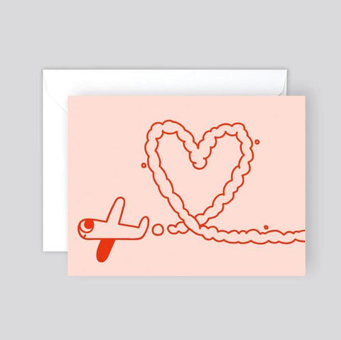 Wrap Aeroplane Heart Card