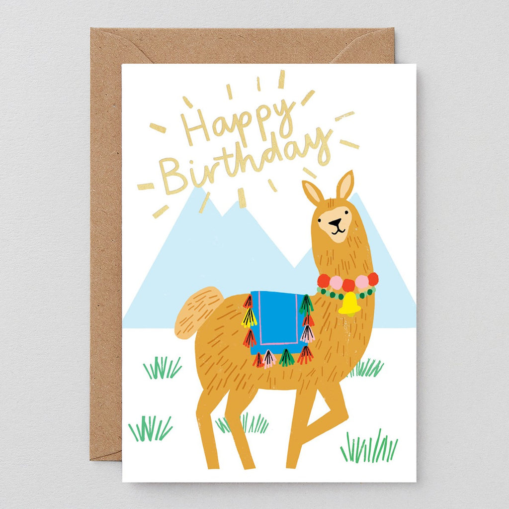 Wrap Birthday Llama Card