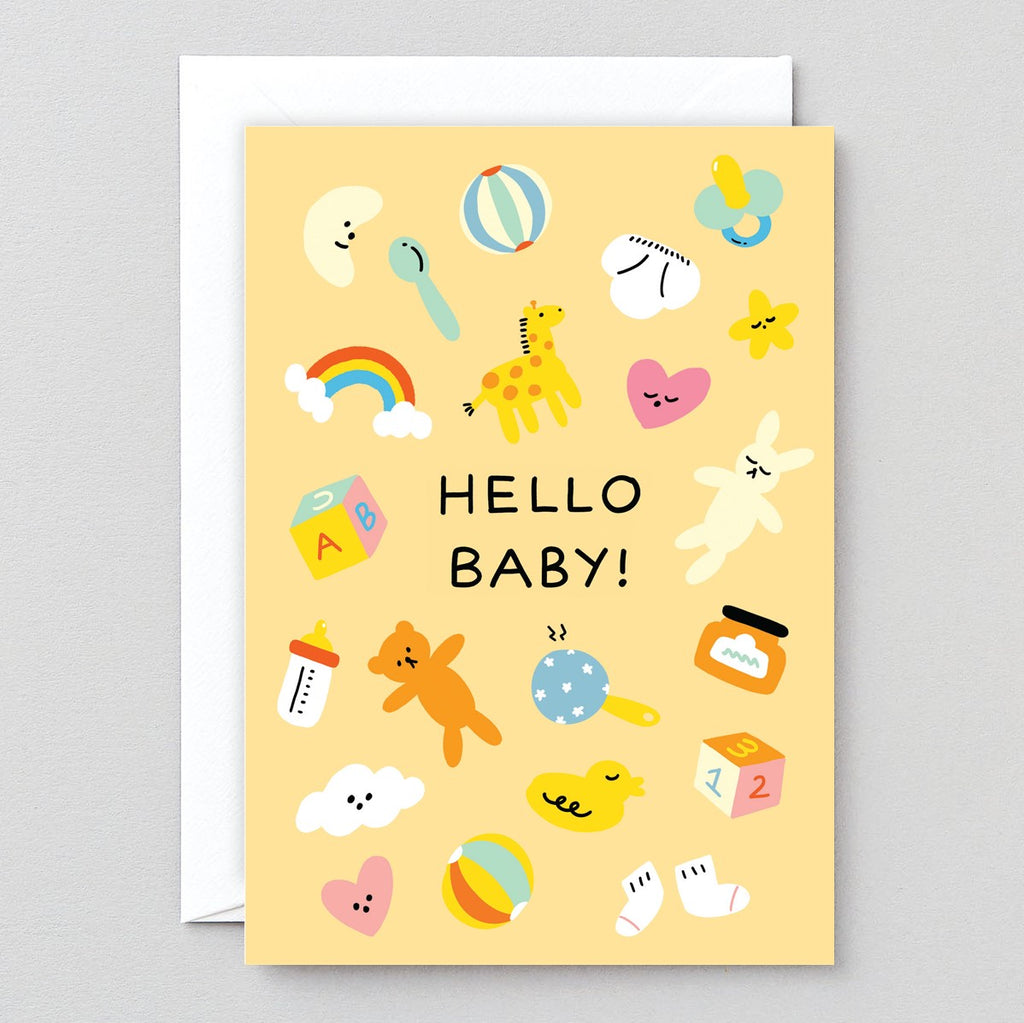 Wrap Hello Baby Card