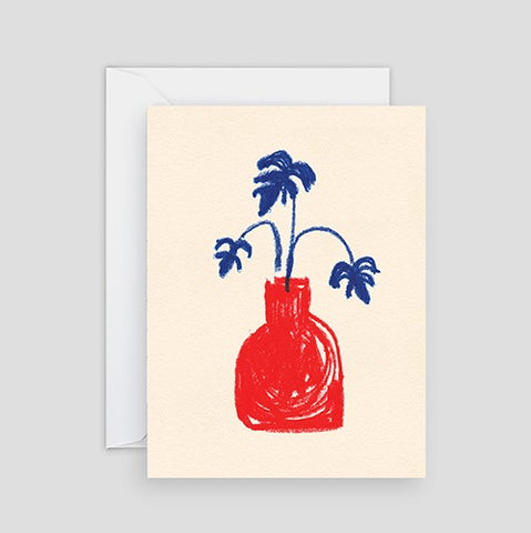 Wrap Red Vase Card