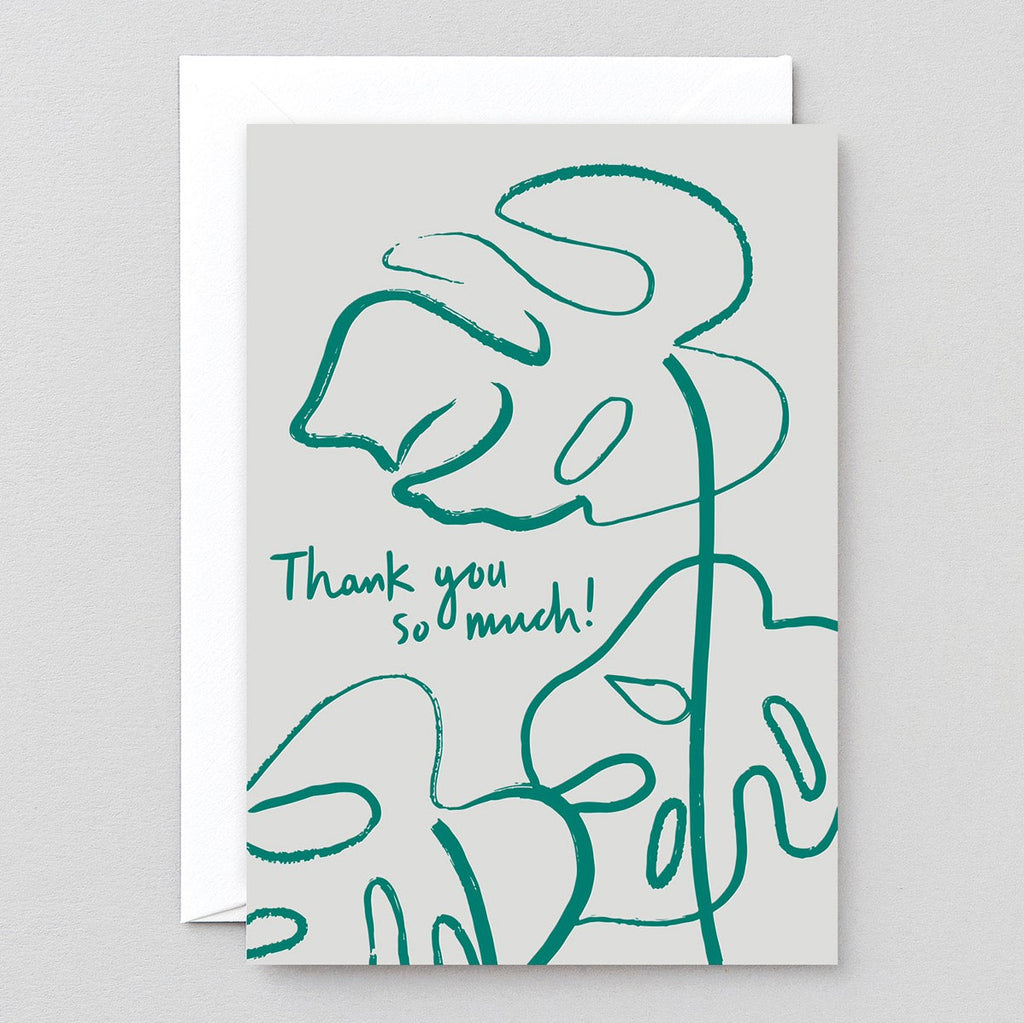 Wrap Thank You Monstera Card