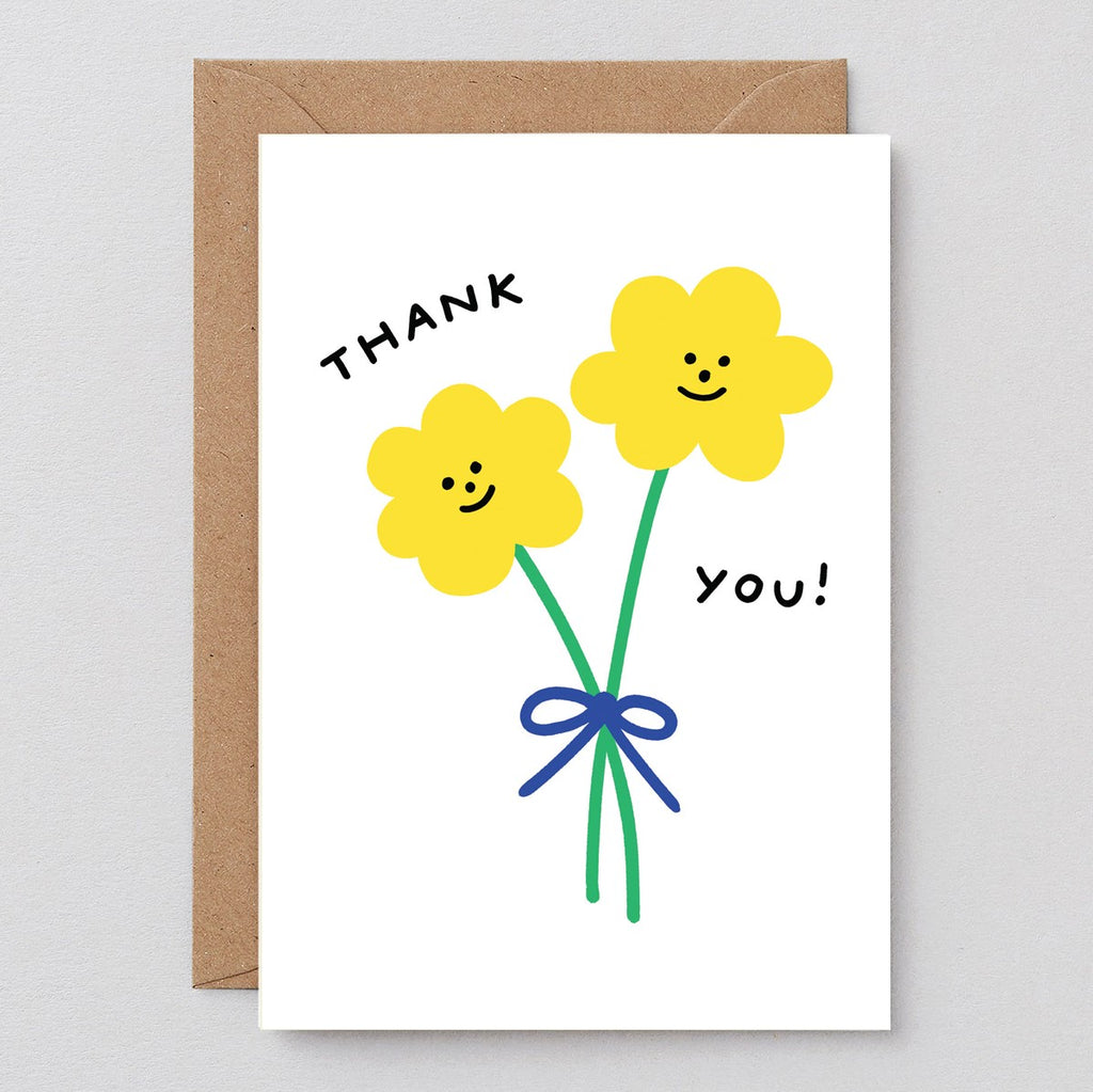 Wrap Thank You Flowers Card
