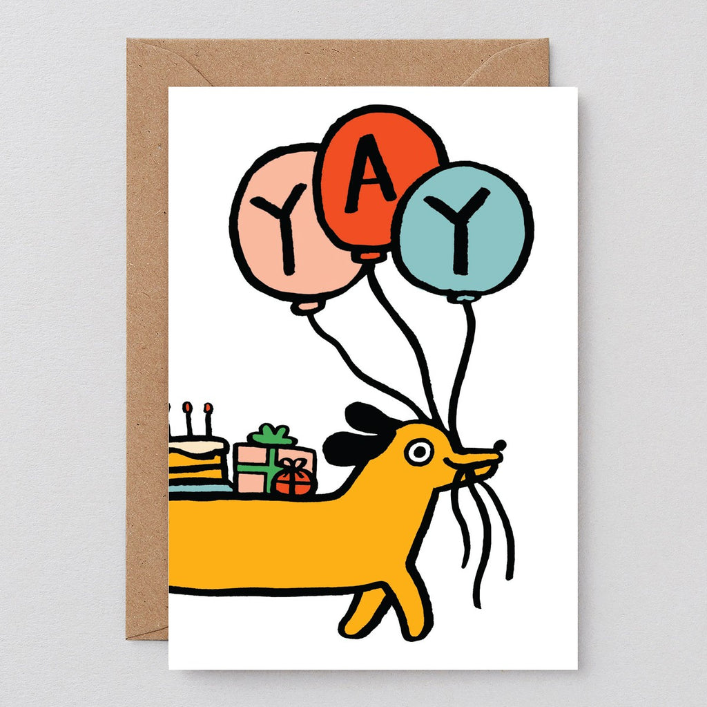 Wrap Birth-Yay Sausage Dog Card