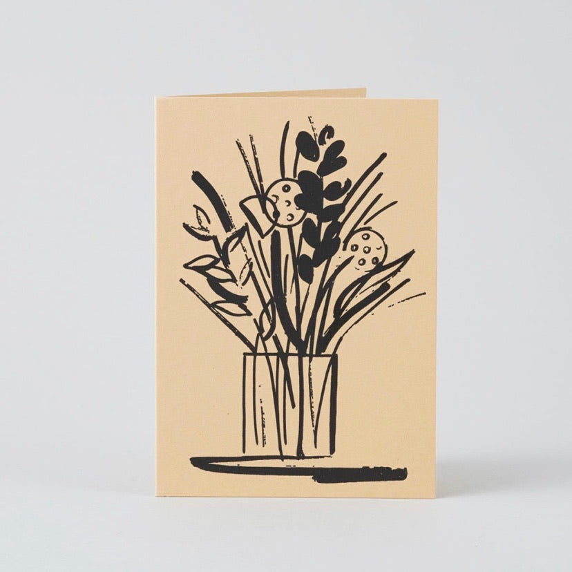 Wrap Vase and Stems Card