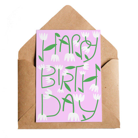 Lottie Hall Birthday Flowers Card